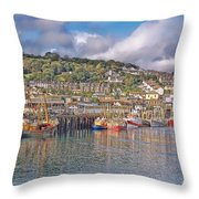 Newlyn Harbour Cornwall 2 Throw Pillow
