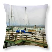 Newport Bay And Balboa Island Throw Pillow