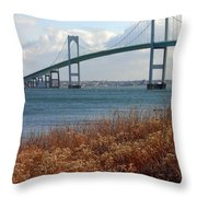 Newport Bridge Newport Rhode Island Throw Pillow