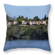 Newport Estuary Looking Across At Homes I Throw Pillow