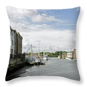 Newport Harbour Iow Throw Pillow