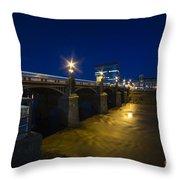 Newport Night Bridge  Throw Pillow