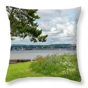 Newport-on-tay In Fife, Scotland Throw Pillow