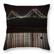 Newport Pell Bridge Throw Pillow