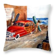 Newport Woody Throw Pillow