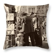 News Of The Attack On Pearl Harbor - San Francisco 8 Dec 1941 Throw Pillow
