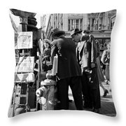 News Of The Attack On Pearl Harbor - San Francisco Dec 8 1941 Throw Pillow