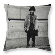 Newsboy, 1909 Throw Pillow