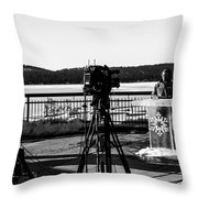 Newscasters Throw Pillow