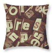 Newsprint Journalism Throw Pillow