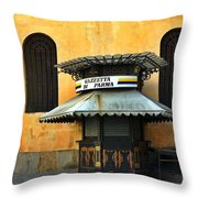 Newsstand - Parma - Italy Throw Pillow