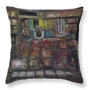 Newsstand Throw Pillow