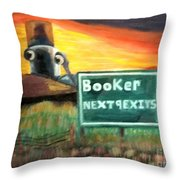 Next 9 Exits Throw Pillow