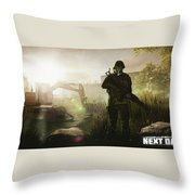Next Day Survival Throw Pillow