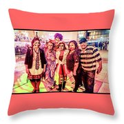 Zombie Gang Of Six Throw Pillow