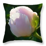 Next Stage After Bud Peony Throw Pillow