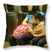 Next Stop Throw Pillow