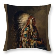 Nez Perce Chief Throw Pillow