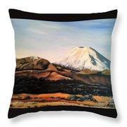 Ngauruhoe Rising Throw Pillow