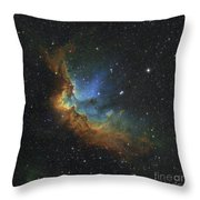 Ngc 7380 In Hubble-palette Colors Throw Pillow by Rolf Geissinger