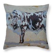 Nguni Bull Throw Pillow