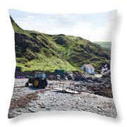 Niabyl Tractor Throw Pillow