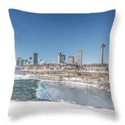 Niagara And Canada Throw Pillow