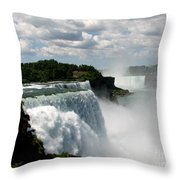 Niagara Falls American And Canadian Horseshoe Falls Throw Pillow