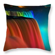 Niagara Falls At Night Throw Pillow