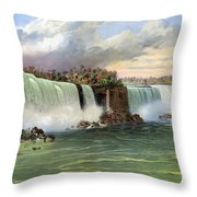 Niagara Falls, C1840 Throw Pillow