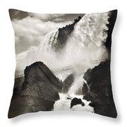 Niagara Falls, C1888 Throw Pillow