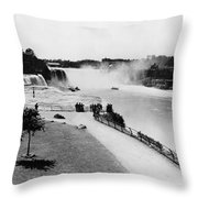 Niagara Falls, C1905 Throw Pillow