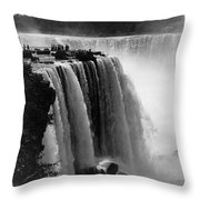 Niagara Falls, C1911 Throw Pillow