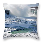Niagara Falls Frozen  II Throw Pillow