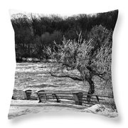 Niagara Falls Ice 4514 Throw Pillow