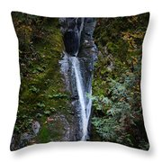 Niagara Falls In Bc Throw Pillow