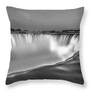 Niagara Falls In Black And White  Throw Pillow