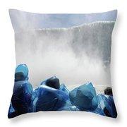 Niagara Falls Maid Of The Mist Boat Ride Throw Pillow