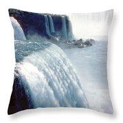 Niagara Falls New York State Throw Pillow