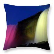 Niagara Falls Nightly Illumination Throw Pillow