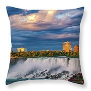 Niagara Falls - The American Side 3 Throw Pillow