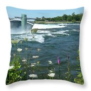 Niagara Falls Usa - Photo Throw Pillow