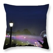 Niagara Glimmers Throw Pillow