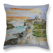 Niagara In Spring Throw Pillow