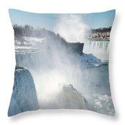 Niagara Up Close Throw Pillow