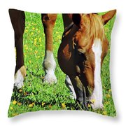 Nibbling On Flowers Throw Pillow