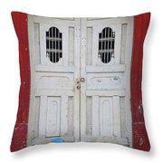 Nicaragua Door 1 Throw Pillow