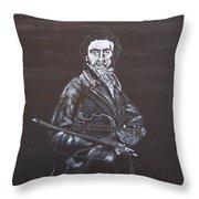 Niccolo Paganini Throw Pillow