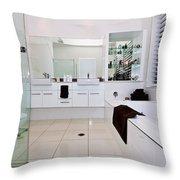 Nice Bathroom Throw Pillow