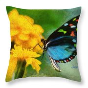 Nice Butterfly Throw Pillow